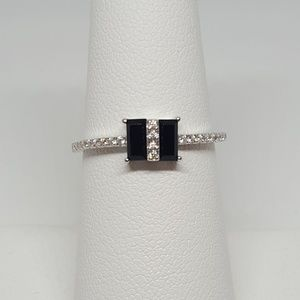 Jewelry - Sterling Silver Double Baguette Ring